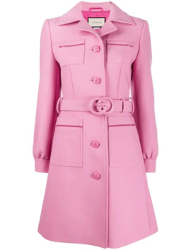 Interlocking G Belted Coat by Gucci