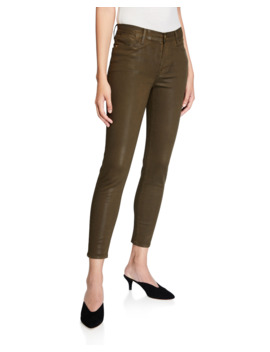Le High Skinny Coated Jeans by Frame