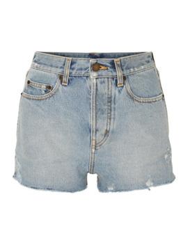 仿旧牛仔短裤 by Saint Laurent