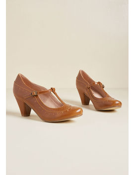 Chelsea Crew Seize The Debut T Strap Heel In Tan by Chelsea Crew