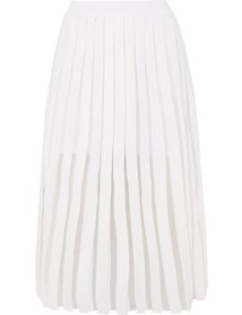褶裥针织中长半身裙 by Balmain