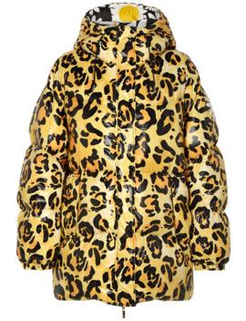 """X 0 Richard Quinn """"Mary"""" 大廓形豹纹绗缝软壳面料连帽夹克 by Moncler Genius"""