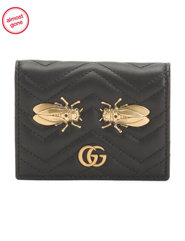 Made In Italy Cicada Leather Card Case by Tj Maxx