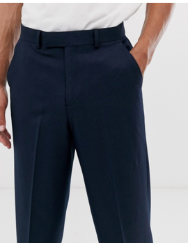 Asos Design Tall Wide Smart Pants In Indigo by Asos Design