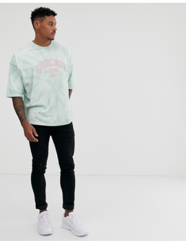 Asos Design Oversized T Shirt With Tie Dye And City Print by Asos Design