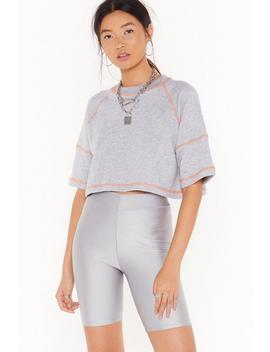 What's The Stitch Uation Relaxed Cropped Tee by Nasty Gal