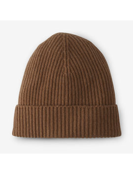 Ribbed Beanie By Johnston's Cashmere by Allen Edmonds