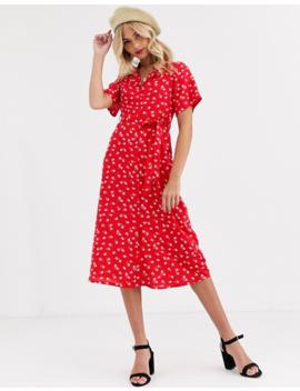 Wednesday's Girl – Blommig Skjortklänning I Midilängd by Wednesday's Girl