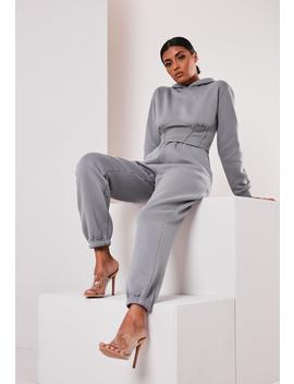 Sofia Richie X Missguided Grey Oversized 90s Joggers by Missguided