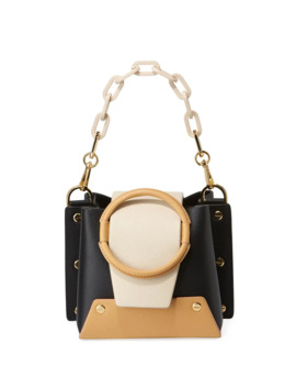 Delila Mini Colorblock Leather Ring Bucket Bag by Yuzefi