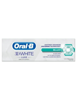 Oral B 3 D White Luxe Blast Toothpaste 75ml by Superdrug