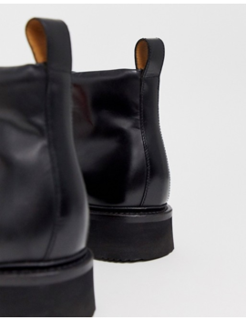 Grenson Bobby Hiker Boot In Black Leather by Grenson