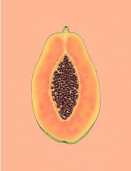 Papaya Poster by Nayla Smith