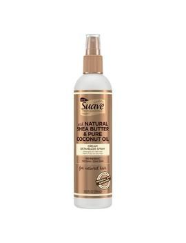 Suave Professionals Natural Shea Butter & Pure Coconut Oil Cream Detangler Spray   10 Fl Oz by 10 Fl Oz