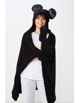Disney Hooded Blanket by Cotton On