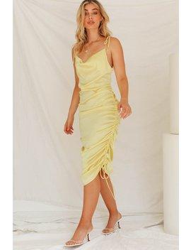 Sweet Salvation Drawstring Dress // Lemon by Vergegirl