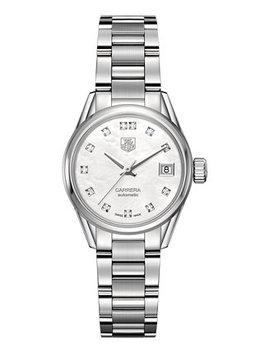 Women's Swiss Automatic Carrera Diamond (1/10 Ct. T.W.) Stainless Steel Bracelet Watch 28mm by General