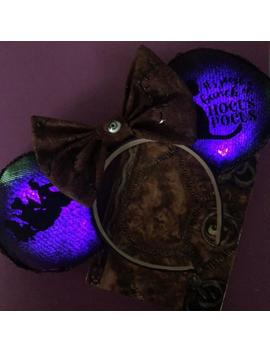 Hocus Pocus Light Up Inspired Mickey Ears by Etsy