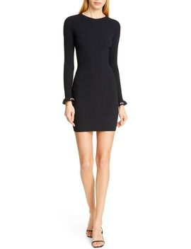 Body Stocking Ribbed Sweater Dress by Alexanderwang.T