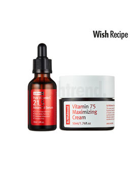 By Wishtrend Pure Vitamin C21.5% Advanced Serum + Vitamin 75 Maximizing Cream by By Wishtrend