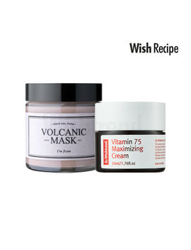 [Im From] Volcanic Mask + [By Wishtrend] Vitamin 75 Maximizing Cream / Pore Care by Im From, By Wishtrend