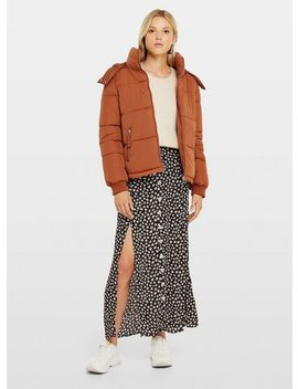 Rust Sporty Puffer Coat by Miss Selfridge