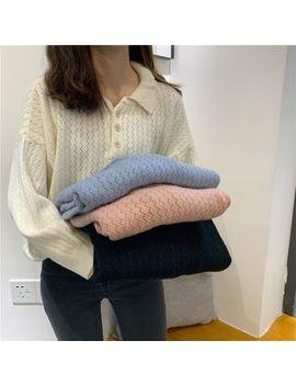 Moon City   Long Sleeve Knit Polo Shirt by Moon City
