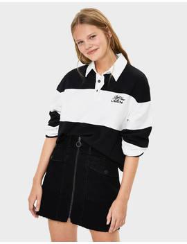 Long Sleeve Polo Shirt Sweatshirts & Hoodies   Bershka Germany by Bershka