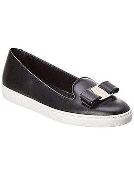 Salvatore Ferragamo Novello Leather Slip On Sneaker by Salvatore Ferragamo