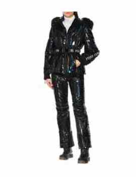 Holographic Fur Trimmed Down Jacket by Fendi