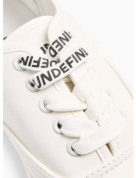White Pu 'steep' Oxford Sneakers by Topman