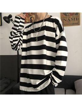 Giuliana   Striped Long Sleeve Oversize T Shirt by Giuliana