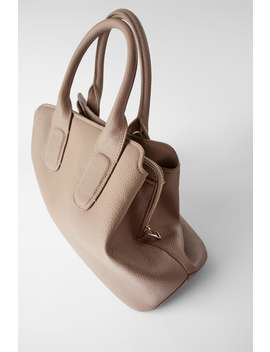 Soft Tumbled Effect City Bagnew In Woman by Zara