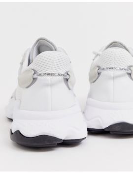 Adidas Originals Ozweego Sneakers In Triple White by Adidas Originals