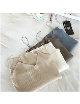 Colsme   Rib Knit Camisole by Colsme