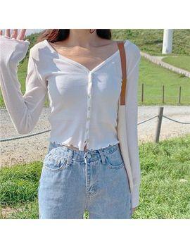Monroll   Long Sleeve Buttoned T Shirt by Monroll