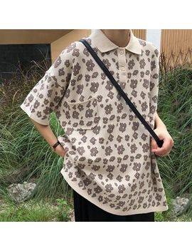 Humm   Floral Short Sleeve Polo Shirt by Humm