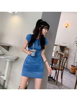 Yilda   Short Sleeve Mini Sheath Dress by Yilda