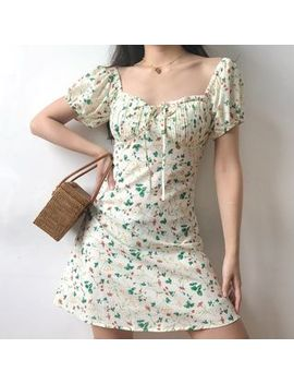 Sinora   Short Sleeve Floral A Line Mini Dress by Sinora