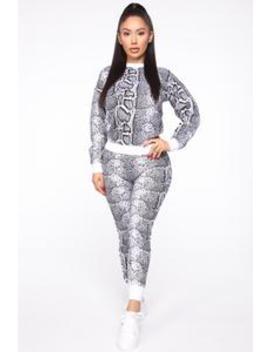 Lose Touch Sweater Set   White/Black by Fashion Nova