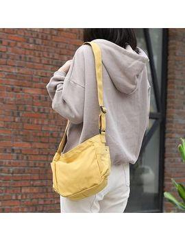 Loveloads   Plain Canvas Shoulder Bag by Loveloads