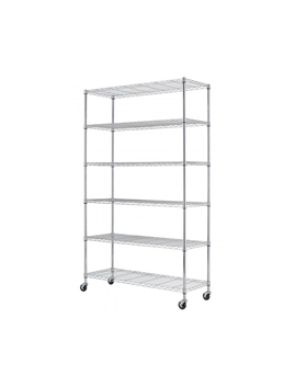 Montgomery 6 Tier Metal Shelving Unit With Wheels by Montgomery