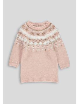 Girls Fairisle Knitted Dress (9mths 6yrs) by Matalan