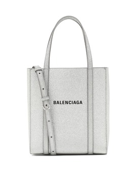 Everyday Xxs Glitter Leather Tote by Balenciaga