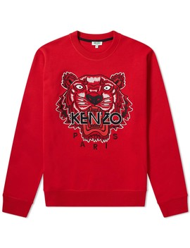 Kenzo Tiger Embroidered Crew Sweat by Kenzo's
