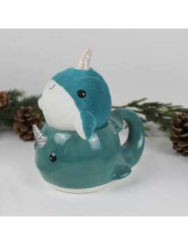 Narwhal Mug And Soft Toy Set by Dunelm