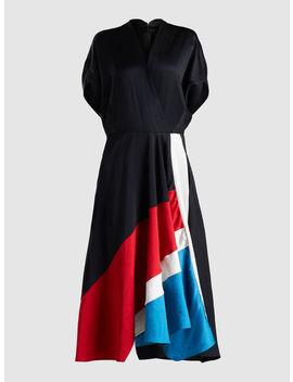Patchwork Aki Wave Short Sleeve Midi Dress by Zero + Maria Cornejo