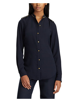 Triple Georgette Button Down Top by General