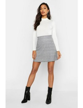 Dogtooth Check A Line Mini Skirt by Boohoo