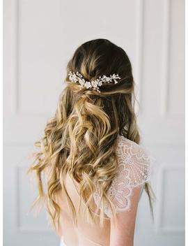 Wedding Hair Vine, Bridal Hair Vine, Gold Hair Vine, Bridal Headpiece, Wedding Headpiece, Gold Bridal Comb, Gold Flower Vine   Vignetta by Etsy